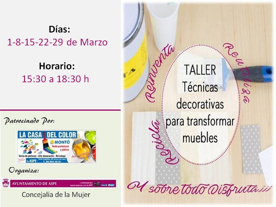 CARTEL TÉCNICAS DECORATIVAS